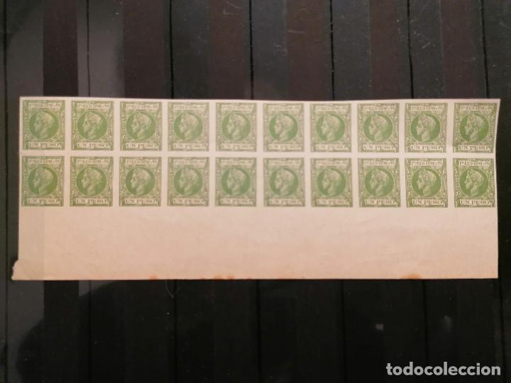 ESPAÑA PUERTO RICO FALSO FILATELICO LOTE SELLOS 20 SELLOS PLIEGO HOJA NUEVO EDIFIL 148 AÑOS 1920 (Sellos - España - Alfonso XII de 1.875 a 1.885 - Nuevos)