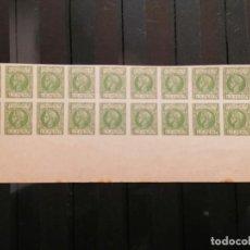 Sellos: ESPAÑA PUERTO RICO FALSO FILATELICO LOTE SELLOS 20 SELLOS PLIEGO HOJA NUEVO EDIFIL 148 AÑOS 1920. Lote 246145550