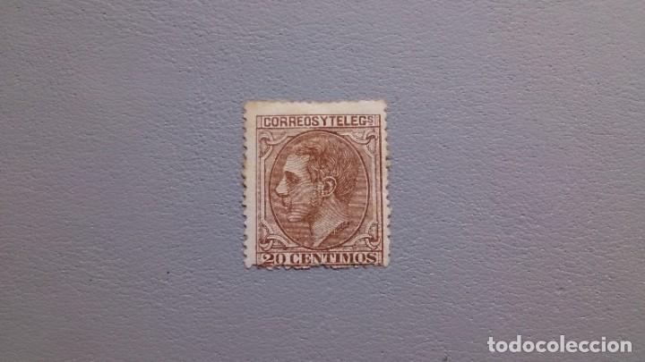 ESPAÑA - 1879 - ALFONSO XII - EDIFIL 203 - MH* - NUEVO - MARQUILLADO - VALOR CATALOGO 176€. (Sellos - España - Alfonso XII de 1.875 a 1.885 - Nuevos)