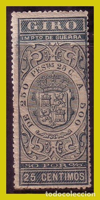 FISCALES GIRO 1876 ALEMANY Nº 92 * * (Sellos - España - Alfonso XII de 1.875 a 1.885 - Nuevos)