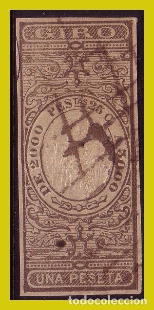 FISCALES GIRO, PAPEL TIMBRADO 1 PTA CASTAÑO (O) (Sellos - España - Alfonso XII de 1.875 a 1.885 - Nuevos)