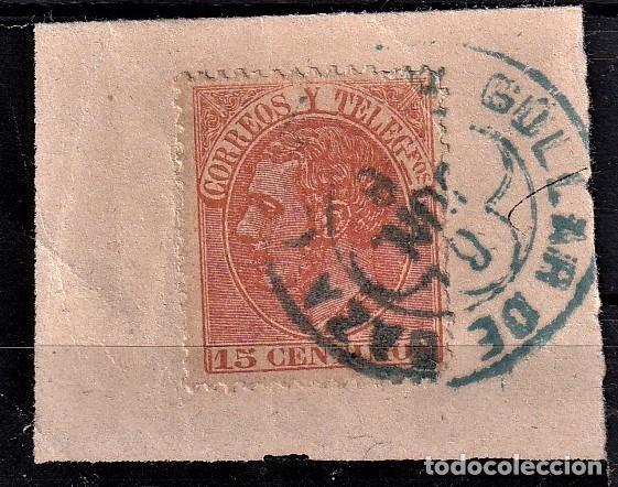 SELLOS ESPAÑA 1882 EDIFIL 210 EN USADO VALOR CATALOGO 12€ MATASELLOS TIPO TREVOL (Sellos - España - Alfonso XII de 1.875 a 1.885 - Usados)