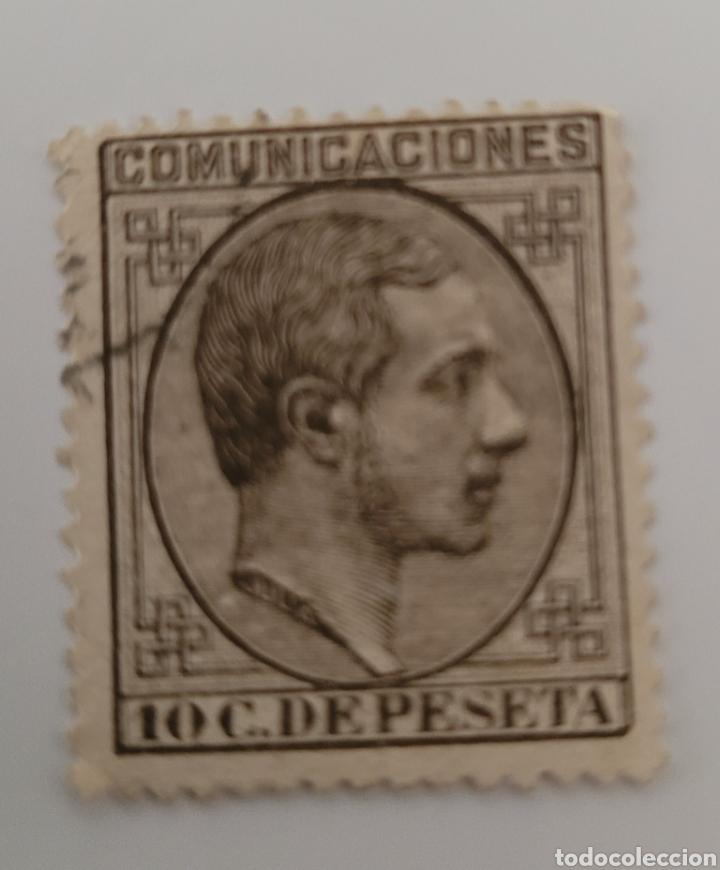 SELLO DE ESPAÑA 1878. ALFONSO XII 10 C DE PESETA. NUEVO (Sellos - España - Alfonso XII de 1.875 a 1.885 - Nuevos)