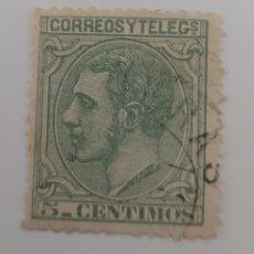 Sellos: SELLO DE ESPAÑA 1879. ALFONSO XII 5 CÉNTIMOS.USADO. Lote 255403360
