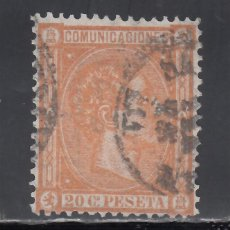 Sellos: ESPAÑA, 1875 EDIFIL Nº 165, 20 C. NARANJA, ALFONSO XII.. Lote 256065785