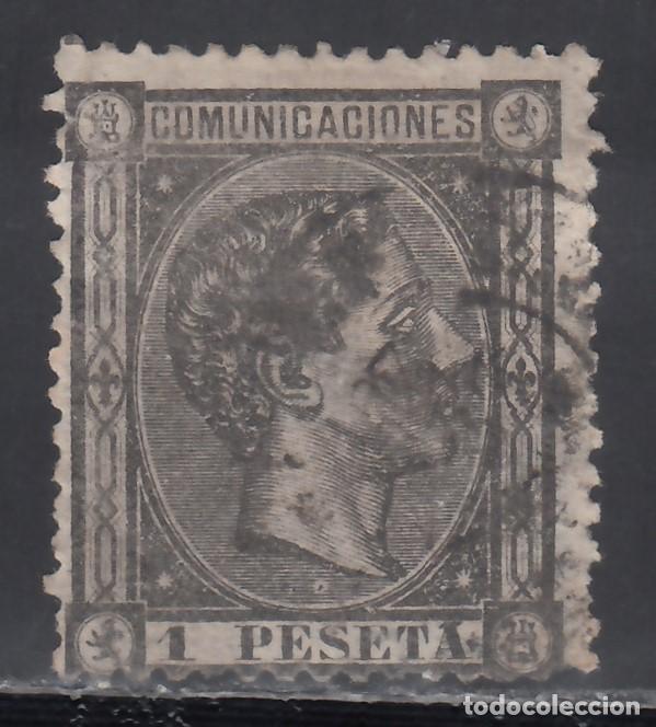 ESPAÑA, 1875 EDIFIL Nº 169, 1 PTS NEGRO GRISÁCEO, ALFONSO XII. (Sellos - España - Alfonso XII de 1.875 a 1.885 - Usados)