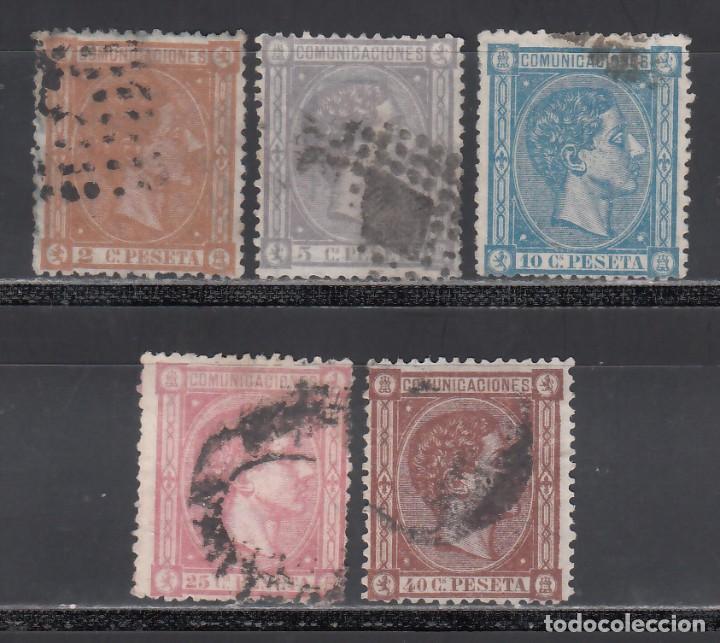 ESPAÑA, 1875 EDIFIL Nº 162, 163, 164, 166, 167, (Sellos - España - Alfonso XII de 1.875 a 1.885 - Usados)