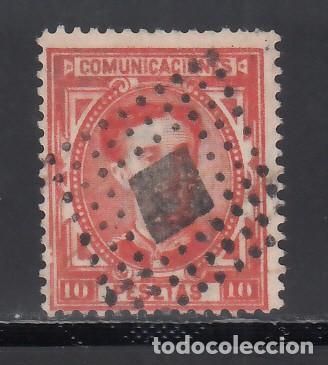 ESPAÑA, 1875 EDIFIL Nº 182, 10 PTS BERMELLÓN VIVO. (Sellos - España - Alfonso XII de 1.875 a 1.885 - Usados)
