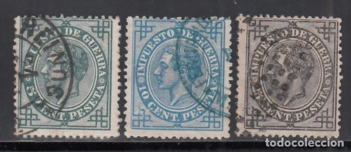 ESPAÑA, 1876 EDIFIL Nº 183, 184, 185, (Sellos - España - Alfonso XII de 1.875 a 1.885 - Usados)