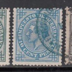 Sellos: ESPAÑA, 1876 EDIFIL Nº 183, 184, 185,. Lote 257303760
