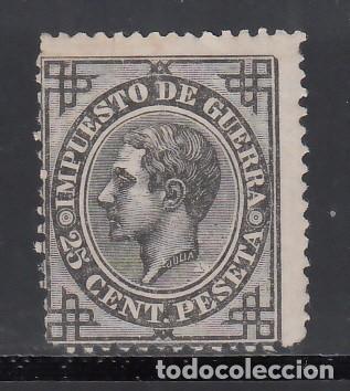 ESPAÑA, 1876 EDIFIL Nº 185 /**/, 25 C NEGRO. (Sellos - España - Alfonso XII de 1.875 a 1.885 - Nuevos)