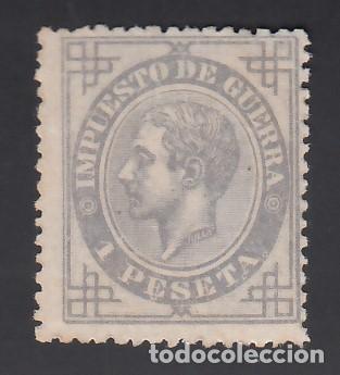 ESPAÑA, 1876 EDIFIL Nº 186 /*/, 1 PTS, GRIS LILA (Sellos - España - Alfonso XII de 1.875 a 1.885 - Nuevos)