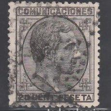 Sellos: ESPAÑA, 1878 EDIFIL Nº 193, 20 C NEGRO. ALFONSO XII. Lote 257323855