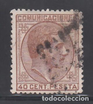 ESPAÑA, 1878 EDIFIL Nº 195, 40 C CASTAÑO ROJIZO. ALFONSO XII (Sellos - España - Alfonso XII de 1.875 a 1.885 - Usados)