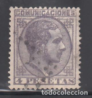 ESPAÑA, 1878 EDIFIL Nº 198, 4 PTS VIOLETA. ALFONSO XII (Sellos - España - Alfonso XII de 1.875 a 1.885 - Usados)