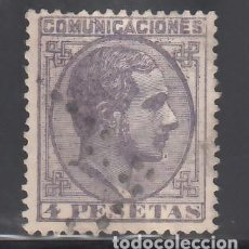 Sellos: ESPAÑA, 1878 EDIFIL Nº 198, 4 PTS VIOLETA. ALFONSO XII. Lote 257324775