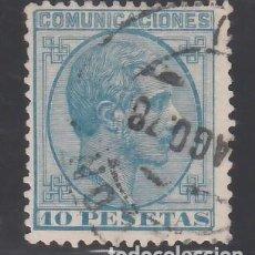 Sellos: ESPAÑA, 1878 EDIFIL Nº 199, 10 PTS AZUL. ALFONSO XII. Lote 257325405
