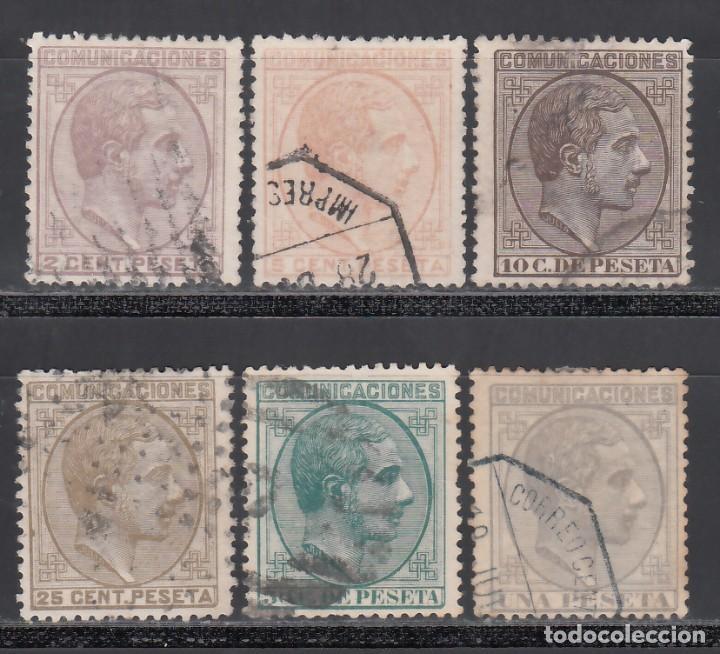 ESPAÑA, 1878 EDIFIL Nº 190, 191, 192, 194, 196, 197, ALFONSO XII (Sellos - España - Alfonso XII de 1.875 a 1.885 - Usados)