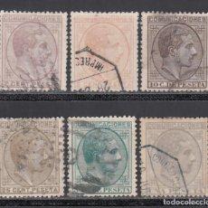 Sellos: ESPAÑA, 1878 EDIFIL Nº 190, 191, 192, 194, 196, 197, ALFONSO XII. Lote 257325645