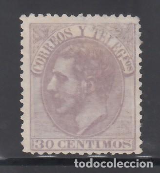 ESPAÑA, 1879 EDIFIL Nº 211 (*), 30 C. LILA, ALFONSO XII (Sellos - España - Alfonso XII de 1.875 a 1.885 - Nuevos)