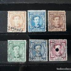 Selos: EDIFIL 174 + 175 + 177 + 179 + 180 + 181 EN USADO ALFONSO XII ESPAÑA 1876. Lote 258196345