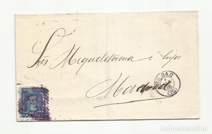 ENVUELTA CIRCULADA 1876 DE BILBAO A MADRID (Sellos - España - Alfonso XII de 1.875 a 1.885 - Cartas)