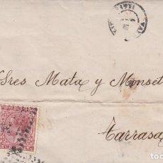 Sellos: CARTA CON SELLOS NUM 192 Y NE6 -1878 -ETIQUETA AL DORSO DE FRANCICO FERNANDEZ EN VALLADOLID. Lote 260688625