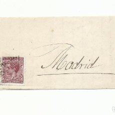 Sellos: FRONTAL CIRCULADA Y ESCRITA 1877 DE CORDOBA A SR DUQUE DE MOTERUMA MADRID. Lote 260330960