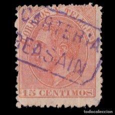 Sellos: ALFONSO XII.1882.15C.CARTERÍA BEASAIN.EDIFIL.210. Lote 261815120
