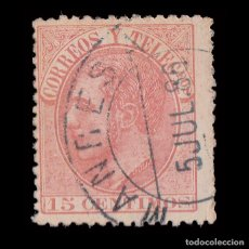 Sellos: ALFONSO XII.1882.15C.MATASELLO MANRESA.EDIFIL.210. Lote 261815565