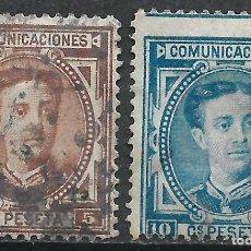 Sellos: ESPAÑA 1876 EDIFIL 174/175 USADO - 19/22. Lote 261924500