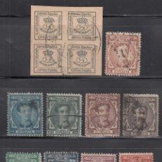 Sellos: ESPAÑA, 1876 EDIFIL Nº 173 / 182, CORONA REAL Y ALFONSO XII. SERIE COMPLETA 10 VALORES. Lote 262112815