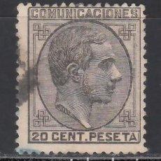 Sellos: ESPAÑA, 1878 EDIFIL Nº 193, ALFONSO XII. 20 C. NEGRO. Lote 262120065