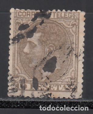 ESPAÑA, 1879 EDIFIL Nº 209 ALFONSO XII. 10 PTS SEPIA OLIVA (Sellos - España - Alfonso XII de 1.875 a 1.885 - Usados)