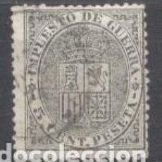 Sellos: ESPAÑA, 1875, EDIFIL 155, ALFONSO XII, IMPUESTO DE GUERRA, USADO. Lote 266162403