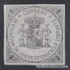 Timbres: ESPAÑA, 1875 EDIFIL Nº 172 /*/, S/V NEGRO S. AZUL, ESCUDO DE ESPAÑA. Lote 266576798