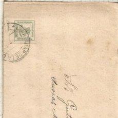 Sellos: QUINTANAR DE LA ORDEN TOLEDO 1883 A BARCELONA IMPRESOS CON LISTA DE PRECIOS CEREALES Y ESPECIAS. Lote 267320909