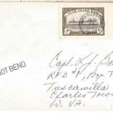 Sellos: GUAM CC A USA CON FRANQUEO USA Y LOCAL GUAM GUARD MAIL 1980 USS ROBERT BARNES. Lote 267321454