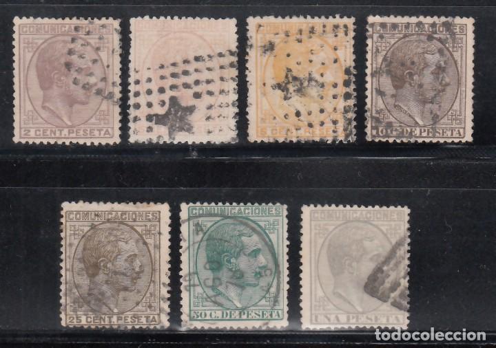 ESPAÑA, 1878 EDIFIL Nº 190, 191, 191A, 192, 194, 196, 197, (Sellos - España - Alfonso XII de 1.875 a 1.885 - Usados)