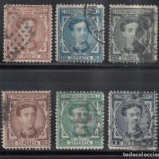 Sellos: ESPAÑA, 1876 EDIFIL Nº 174, 175, 176, 177, 179, 180. Lote 267506859