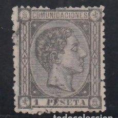 Timbres: ESPAÑA, 1875 EDIFIL Nº 169, 1 P. NEGRO GRISÁCEO,. Lote 267510964