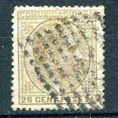 Sellos: EDIFIL 194. ALFONSO XII. 25 CTS AÑO 1878. MATASELLADO. Lote 269209838
