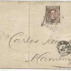 Sellos: ALFONSO XII ENVUELTA BILBAO A HAMBURGO 1878. Lote 270090908