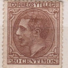 Sellos: ALFONSO XII 1879. 20 CTS. NUEVO*. VER. 178 €. Lote 270197483