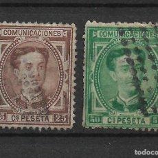 Sellos: ESPAÑA 1876 EDIFIL 177 Y 179 USADO - 19/18. Lote 271055803