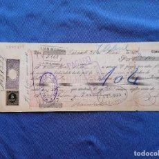 Sellos: ESPAÑA SELLOS PAGARE AÑO 1897 SELLO EDIFIL 236 SELLO NUEVO BANCO ESPAÑA SABADELL. Lote 274023023