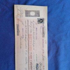 Sellos: ESPAÑA SELLOS PAGARE AÑO 1898 SELLO EDIFIL 236 SELLO NUEVO BANCO ESPAÑA GUADALAJARA BARRCELONA. Lote 274023213
