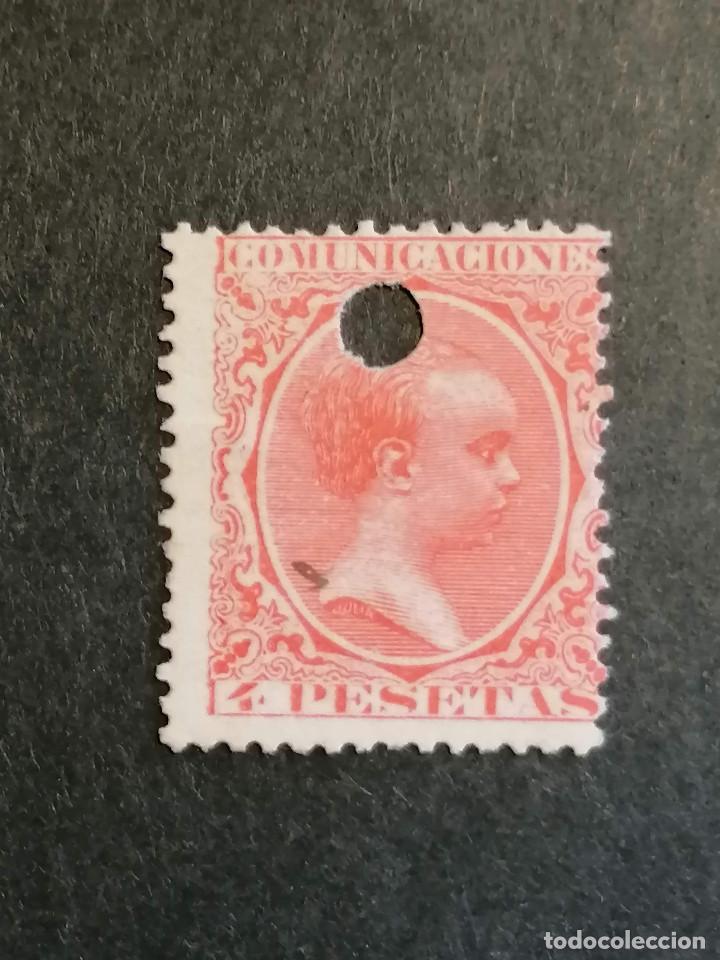 ESPAÑA SELLOS ALFONSO XIII AÑO 1889 EDIFIL 228 CLAVE USADO TELEGRAFOS (Sellos - España - Alfonso XII de 1.875 a 1.885 - Usados)