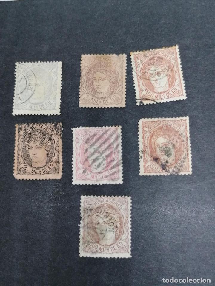 Sellos: España lote 7 sellos Republica I año 1870 CLAVES Usados - Foto 2 - 274168648