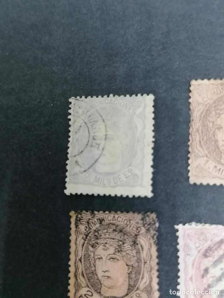 Sellos: España lote 7 sellos Republica I año 1870 CLAVES Usados - Foto 3 - 274168648